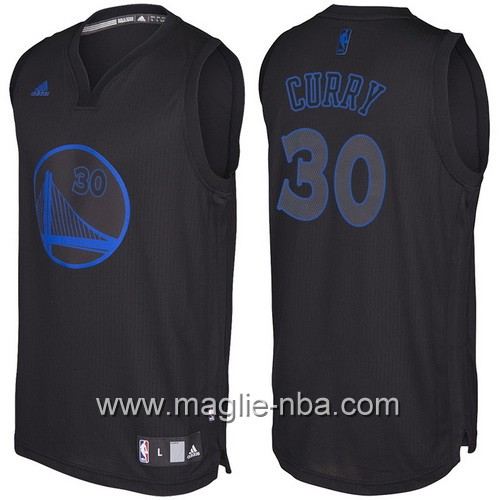 Nuovo Swingman maglia Golden State Warriors Stephen Curry #30 nero