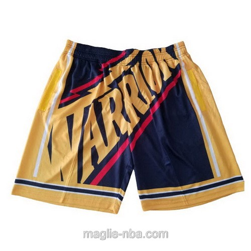Pantaloncini basket NBA Big face blu marino Golden State Warriors