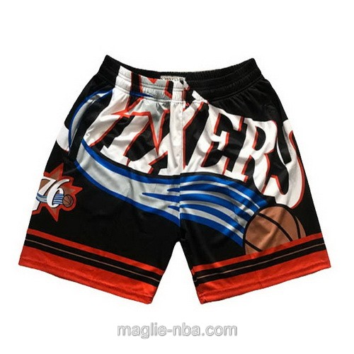 Pantaloncini basket NBA Big face nero Philadelphia 76ers