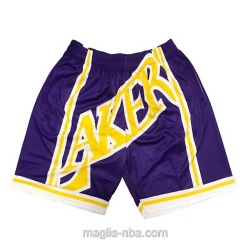 Pantaloncini basket NBA Big face porpora Los Angeles Lakers