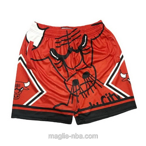Pantaloncini basket NBA Big face rosso Chicago Bulls