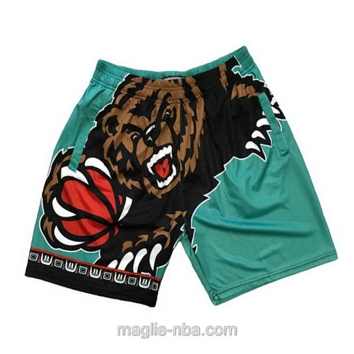 Pantaloncini basket NBA Big face verde Memphis Grizzlies
