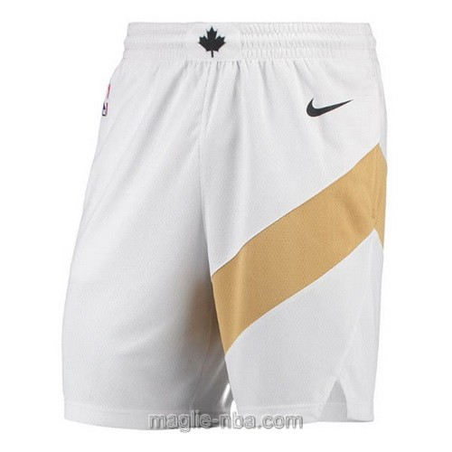 Pantaloncini basket NBA City Nike bianco Toronto Raptors