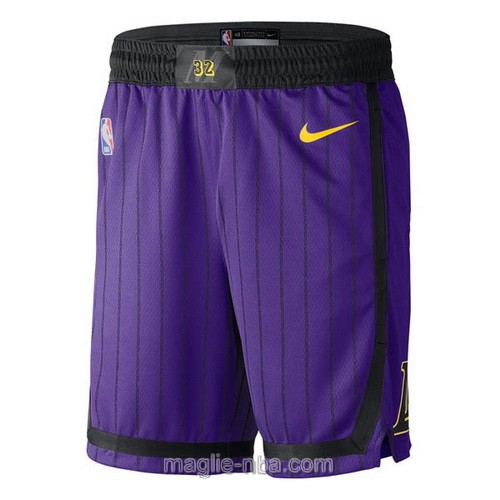 Pantaloncini basket NBA City Nike porpora Los Angeles Lakers