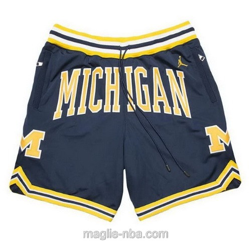 Pantaloncini basket NBA Just Don blu scuro University of Michigan