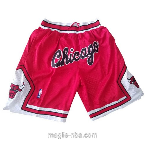 Pantaloncini basket NBA Just Don rosso Chicago Bulls