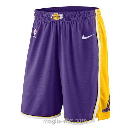 Pantaloncini basket NBA Nike porpora Los Angeles Lakers