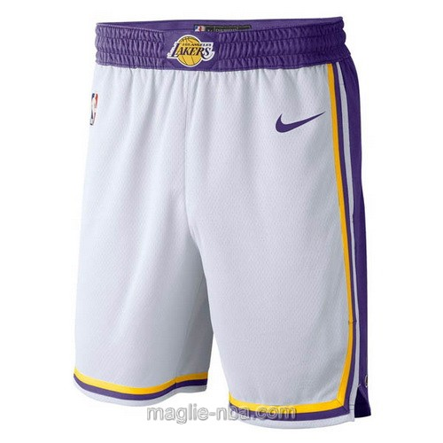 Pantaloncini basket NBA retro Nike bianco Los Angeles Lakers