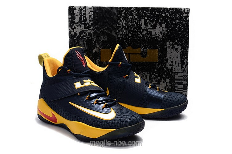 Scarpe da basket Nike nero e giallo James Soldier 11th Generation uomo
