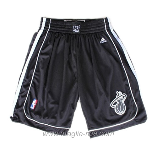 Pantaloncini basket nba tutto nero Miami Heat