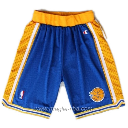 Pantaloncini basket nba Segherie Classics blu Golden State Warriors