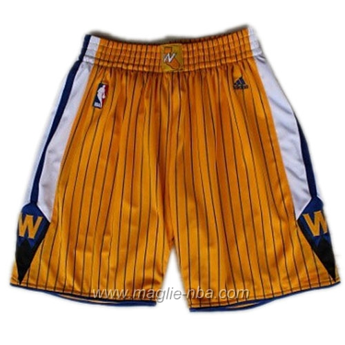 Pantaloncini basket nba Segherie Classics yallow Golden State Warriors