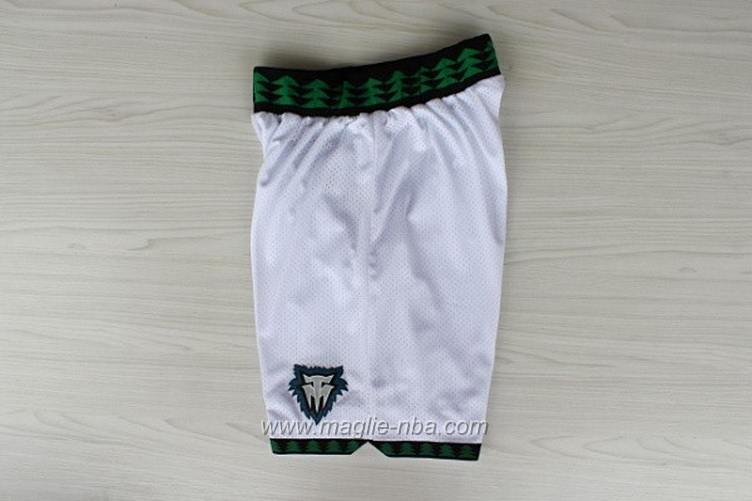 Pantaloncini basket nba Retro bianco Minnesota Timberwolves