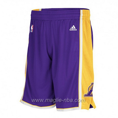 Pantaloncini basket nba porpora Los Angeles Lakers