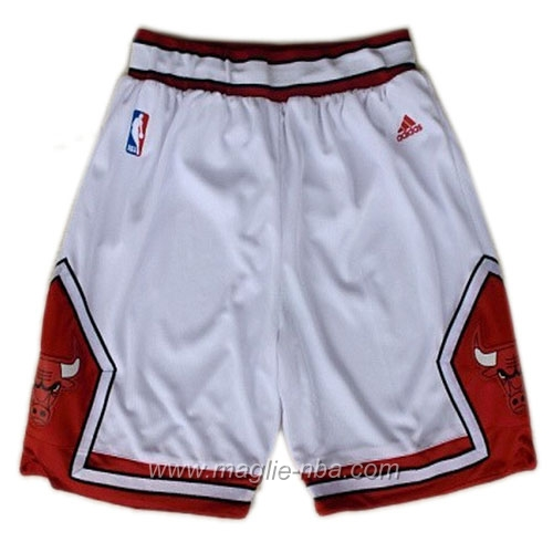 Pantaloncini basket nba bianco Chicago Bulls