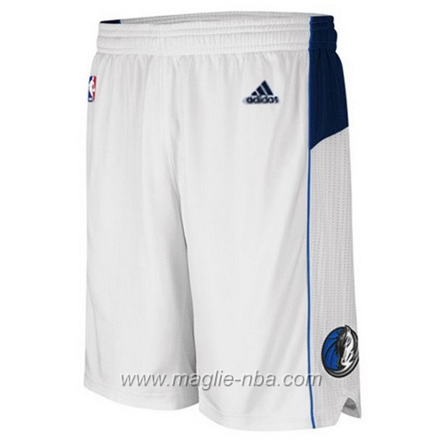 Pantaloncini basket nba bianco Dallas Mavericks