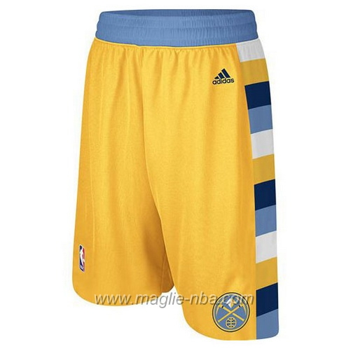 Pantaloncini basket nba giallo Denver Nuggets