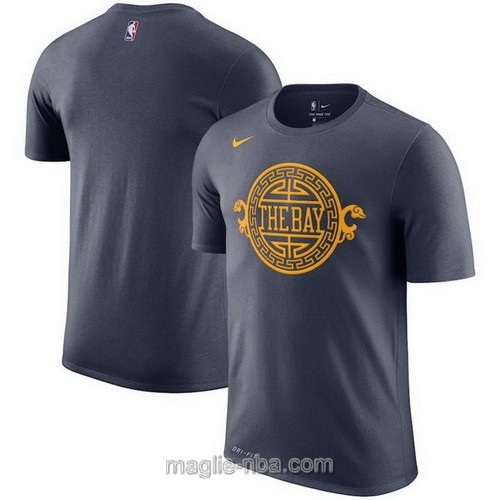 T-Shirt nba City Edition nero Golden State Warriors 2019-20