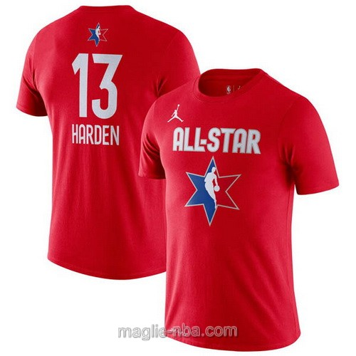 T-Shirt nba all star game 2020 #13 James Harden rosso