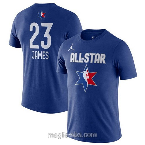 T-Shirt nba all star game 2020 #23 LeBron James blu
