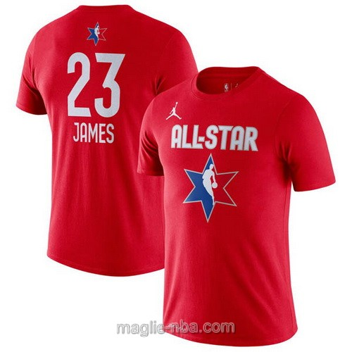 T-Shirt nba all star game 2020 #23 LeBron James rosso