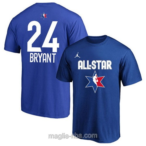 T-Shirt nba all star game 2020 #24 Kobe Bryant blu
