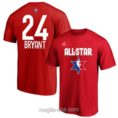 T-Shirt nba all star game 2020 #24 Kobe Bryant rosso