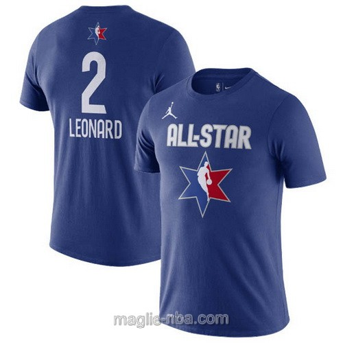 T-Shirt nba all star game 2020 #2 Kawhi Leonard blu