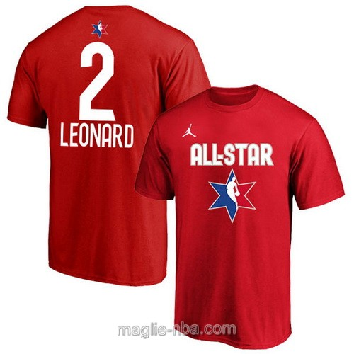 T-Shirt nba all star game 2020 #2 Kawhi Leonard rosso