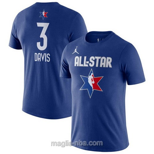 T-Shirt nba all star game 2020 #3 Anthony Davis blu