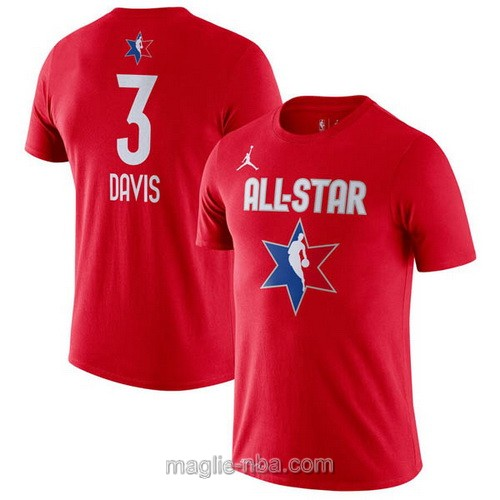 T-Shirt nba all star game 2020 #3 Anthony Davis rosso