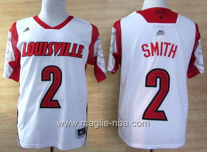 Maglia basket NCAA Louisville Cardinals Russ Smith #2 bianco