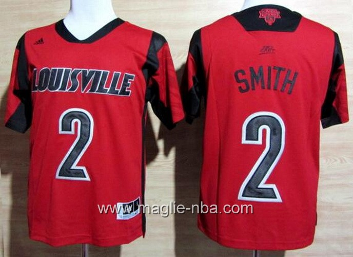 Maglia basket NCAA Louisville Cardinals Russ Smith #2 rosso