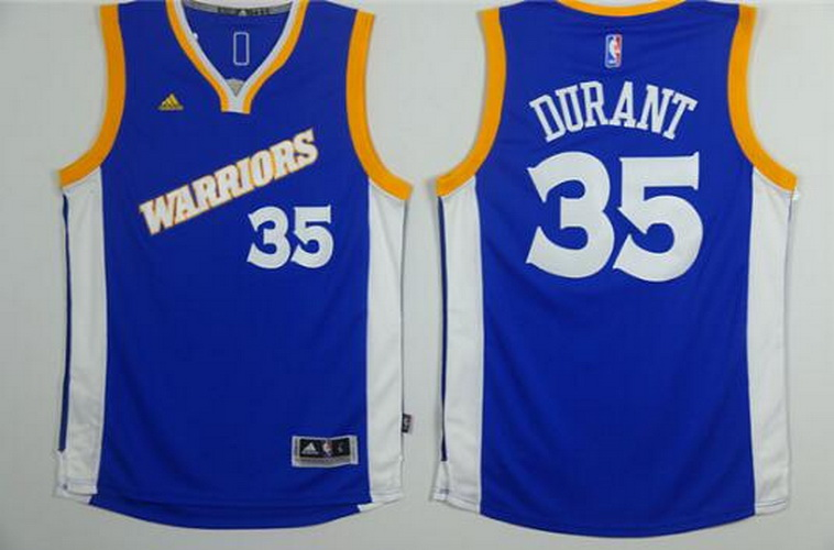 Nuovo maglia Golden State Warriors Kevin Durant #35 blu
